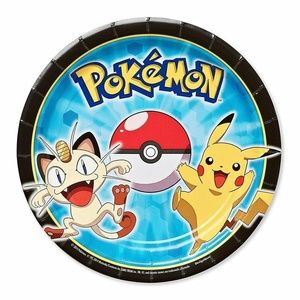 Pokemon Pikachu And Friends Small Dessert Plates